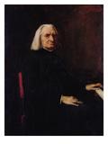 Portrait of Franz Liszt (1811-86) 1886 Giclee Print by Mihaly Munkacsy