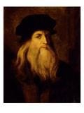 Portrait of a Man, Presumed to Be Leonardo Da Vinci (Oil on Canvas) Giclee Print by  Anonymous