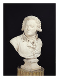 Bust of Mirabeau (1749-91) 1791 (Plaster) Giclee Print by  Tessier