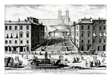 Piazza Di Spagna, C.1740 (Engraving) Giclee Print by Giuseppe Vasi