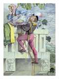 Sketch for the Passions.. Love, 1853 (Pen, Ink, W/C and Graphite on Paper) Giclee Print by Richard Dadd