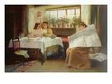 News from the Front, 1899 (Oil on Canvas) Giclee Print by Alexander M. Rossi