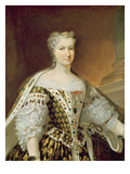 Portrait of Maria Leszczynska, Queen of France and Navarre Giclee Print by Carle van Loo