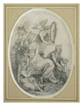 Drawing for the Frontispiece of 'The Botanic Garden', by Erasmus Darwin (1731-1802) Premium Giclee Print by Henry Fuseli