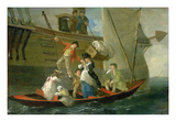 A Married Sailor's Adieu, C.1800 (Oil on Panel) Giclee Print by Julius Caesar Ibbetson