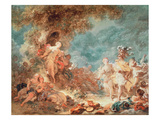 Rinaldo in the Garden of the Palace of Armida (Oil on Canvas) Reproduction procédé giclée par Jean-Honore Fragonard