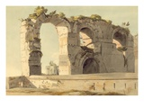 The Claudian Aqueduct, Rome, 1785 (W/C, Pen, Ink and Graphite on Paper) Giclee Print by Francis Towne