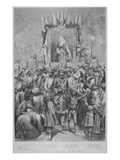 The Jubilee in the East- an Allegory, 1887 (Litho) Giclee Print by Godefroy Durand