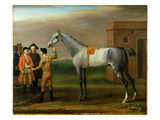 Lamprey, with His Owner, Sir William Morgan, at Newmarket, 1723 Giclee Print by John Wootton