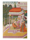 Ramakali Ragini, from a Ragamala, Rajasthan (Gouache on Paper) Giclee Print by  Indian