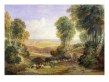 The Junction of the Severn and the Wye with Chepstow in the Distance, 1830 (W/C on Paper) Giclee Print by David Cox