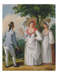 Free West Indian Creoles in Elegant Dress, c.1780 Giclee Print by Agostino Brunias
