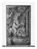 Life of Christ, Entry of Christ into Jerusalem, Preparatory Study of Tapestry Cartoon Giclee Print by Henri Lerambert