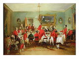 The Hunt Breakfast, Bachelor&#39;s Hall, 1836 (Oil on Canvas) Giclee Print by Francis Calcraft Turner