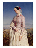 Portrait of a Woman, C.1846 (Oil on Canvas) Giclee Print by Edouard Louis Dubufe