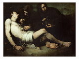 St Sebastian, Martyred (Oil on Canvas) Giclee Print by Auguste Theodule Ribot