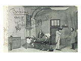 Scene from Act Iv of the Opera 'La Boheme', by Giacomo Puccini (1858-1924) (B/W Photo) Giclee Print