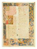 Page from the 'Chronicle of King Duarte I (1391-1438) (Vellum) Giclee Print by  Portuguese