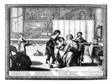 The Blood Letting (Engraving) (B/W Photo) Giclee Print by Abraham Bosse