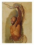Man Struggling with a Boa Constrictor, Study for 'Liboya Serpent Seizing its Prey', C.1803 Giclee Print by James Ward