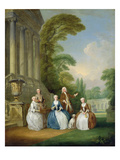 Portrait of a Family, 1740 Giclee Print by Joseph Francis Nollekens