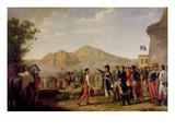 Joachim Murat (1767-1815) Marshal of France and King of Naples Ordering the Capture of Capri, 1808 Giclee Print by Johann Heinrich Schmidt