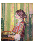 Mrs Robert Bevan, C.1913 (Oil on Canvas) Giclee Print by Harold Gilman