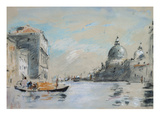 The Grand Canal and Church of Santa Maria Della Salute, Venice (Watercolour) Giclee Print by Hercules Brabazon Brabazon