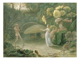 Oberon and Titania, a Midsummer Night's Dream, Act Ii, Scene I, by William Shakespeare (1566-1616) Giclee Print by Francis Danby