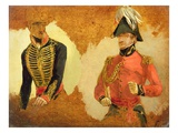 Studies of Royal Horse Artillery Uniform, and of an A.D.C. to the Commander in Chief Giclee Print by George Jones