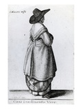 Wife of a Citizen of London, 1643 (Etching) Lmina gicle por Wenceslaus Hollar