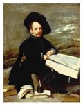Portrait of the Jester Diego De Acedo, Called 'El Primo', 1644 Giclée-Premiumdruck von Diego Rodriguez de Silva y Velazquez