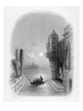 Moonlit Scene in Venice, Engraved by Robert Brandard, 1846 (Engraving) Giclee Print by George Cattermole