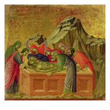 Maesta: the Burial of Christ, 1308-11 Giclée-tryk af Duccio di Buoninsegna