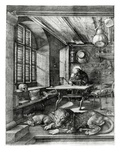 St. Jerome in His Study, 1514 (Engraving) Giclee Print by Albrecht D&#252;rer