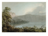 Lake of Vico Between Rome and Florence, 1783 (Graphite and W/C on Heavy Laid Paper) Giclee Print by John Robert Cozens