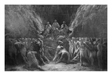 The Last Judgement, known also as the Three Judges of Hell, Minos, Hades and Rhadamanthe Reproduction procédé giclée par Gustave Doré