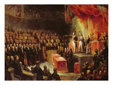 Study for King Louis-Philippe (1773-1850) Swearing His Oath to the Chamber of Deputies Giclee Print by Ary Scheffer