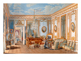 The Study of the Empress Eugenie at Saint-Cloud, 1860 (W/C on Paper) Giclee Print by Fortune de Fournier