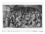 Life of Christ, Christ Rising Lazarus from the Dead, Preparatory Study of Tapestry Cartoon Giclee Print by Henri Lerambert