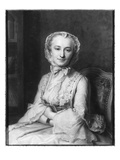 Mademoiselle Marie Salle, 1741 (Pastel on Paper) (B/W Photo) Giclee Print by Maurice Quentin de La Tour