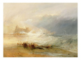 Wreckers - Coast of Northumberland, with a Steam Boat Assisting a Ship Off Shore, 1834 Giclee Print by Joseph Mallord William Turner