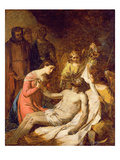 Study of the Lamentation on the Dead Christ (Oil on Paper Laid Down on Panel) Giclee Print by Benjamin West