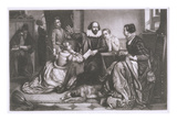 Shakespeare with His Family, at Stratford, Reciting the Tragedy Hamlet Giclee Print by Edouard Jean Conrad Hamman