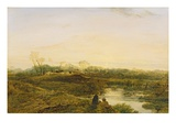 Evening, Bayswater, 1818 (Oil on Panel) Giclee Print by John Linnell