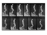 Man Descending Stairs, from 'Animal Locomotion', 1887 (B/W Photo) Giclee Print by Eadweard Muybridge