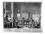 The School Master (Engraving) (B/W Photo) Giclee Print by Abraham Bosse