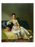 Nancy Parsons in Turkish Dress, C.1771 (Oil on Copper) Giclee Print by George Willison