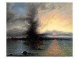 The Rock of Salvation, 1837 (Oil on Canvas) Gicl&#233;e-Druck von Samuel Colman