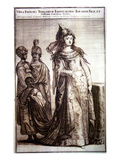 Kosem Sultan with Servants, 1647 (Engraving) Giclee Print by  Ottoman